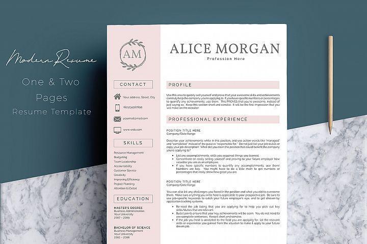 Professional Creative Resume Template  Alice Morgan  Free Design