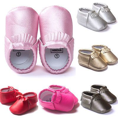 Baby Toddler Infant Boy Girl Soft Sole Moccasin Tassel Leather Shoes 0 18 Month