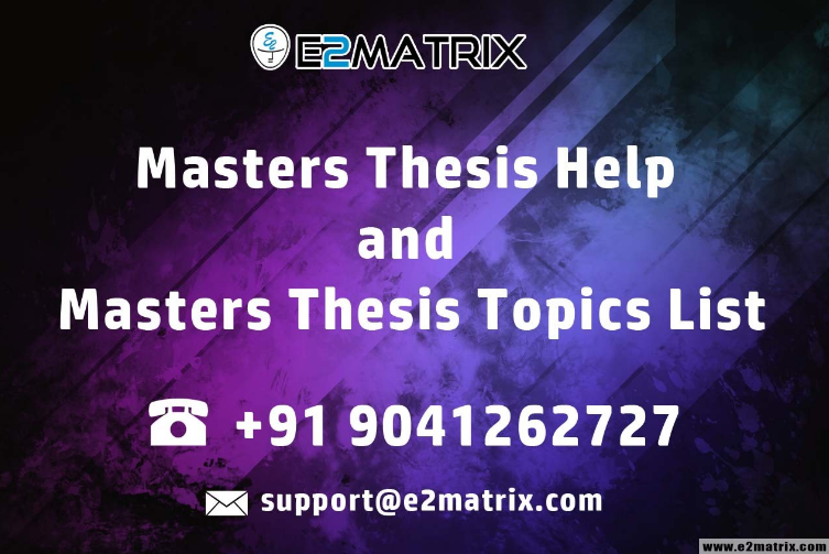 Master thesis in image processing