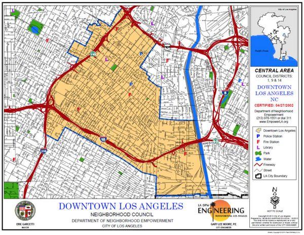 Los Angeles Council District Map