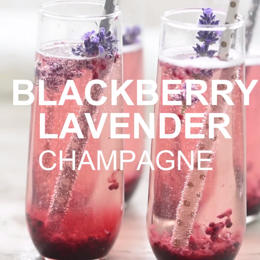 BlackBerry Lavendar Champagne Cocktail gets a unique twist with a simple blackberry and lavender sauce that is super easy but looks stunning! Perfect for entertaining with delicious real ingredients.This BlackBerry Lavendar Champagne Cocktail gets a unique twist with a simple blackberry and lavender sauce that is super easy but looks stunni...
