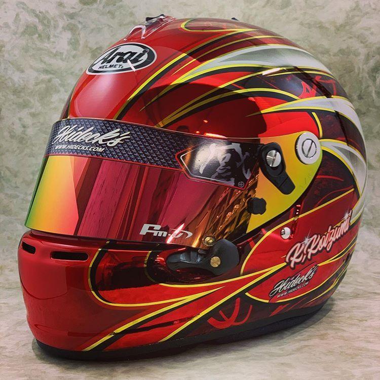 ハイデックス On Instagram Hidecks Hdpremium 感 ハイデック ヘルメットペイント ヘルメットカスタムペイント メッキ塗装 Fmvvisor In 2020 Racing Helmets Helmet Design Helmet