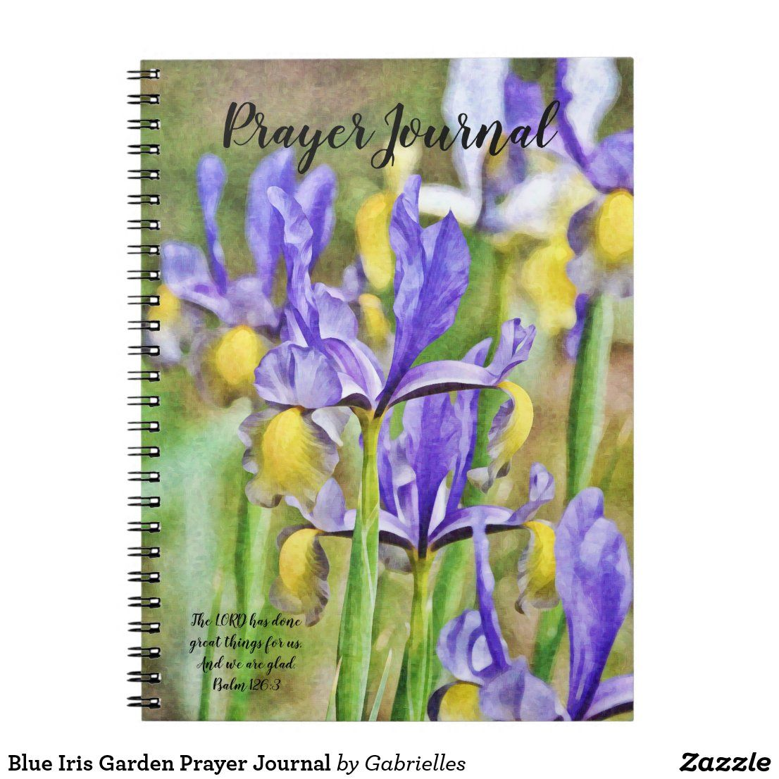 Blue Iris Garden Prayer Journal Zazzle Com In 2020 Iris Garden Prayer Journal Iris Flowers