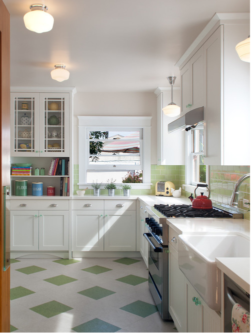 Mod Retro Vinyl Kitchen Floor Tiles Subway Tile Lime Green Kitchen Trendy Kitchen Backsplash Trendy Kitchen Tile Patterned Floor Tiles