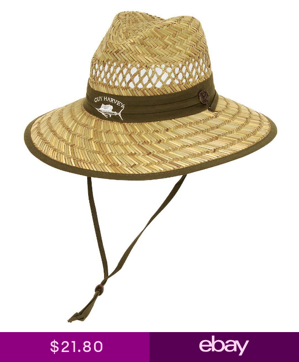 Guy Harvey Mens Sailfish Straw Fishing Hat One Size Green Fishing Hat Guy Harvey Hats