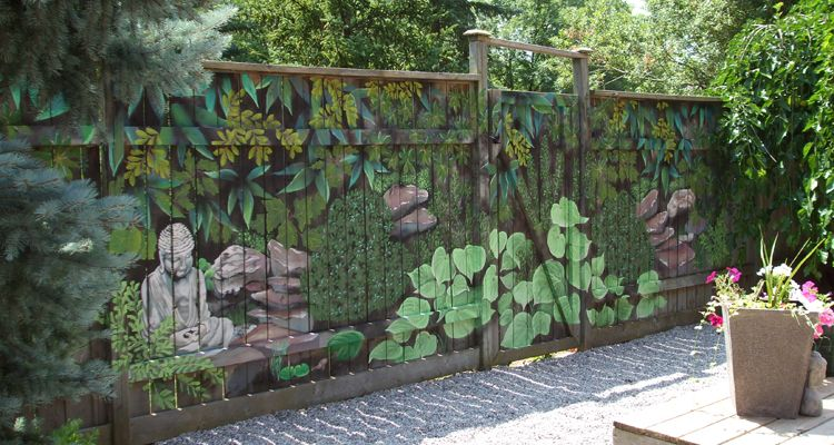 Lovely 20 HOURS   ZEN GARDEN The Garden Mural On The Fence Ties In Nicely With The  Yard Scaping And Blends Nicely With The Natural Park Behind The Home.