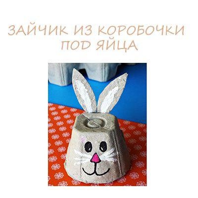 Zajček iz odpadnega materiala - obrt z otroki | Detkipodelki