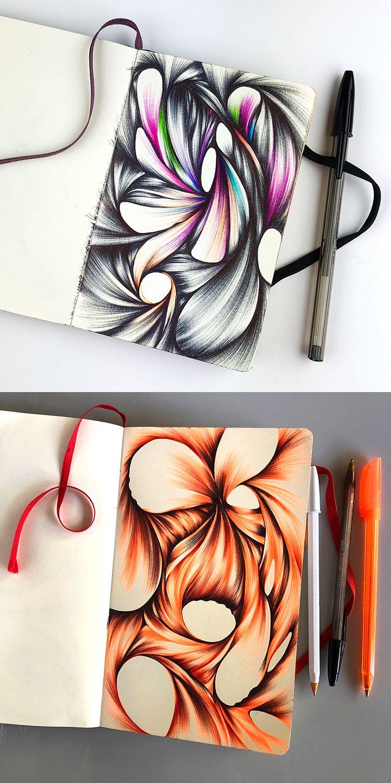 2018 Sketchbook Tour Pen Art Ballpoint Pen Art Sketchbook Tour