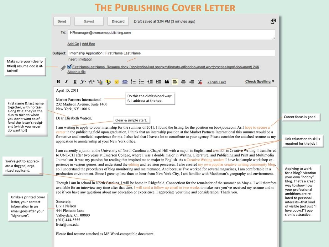 It is essential that you maintain your cover letters