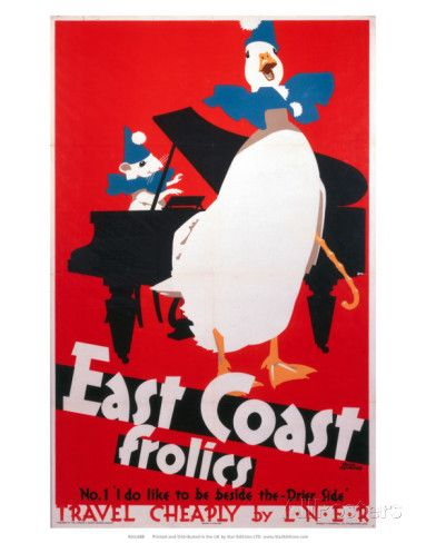 East Coast Frolics, LNER, c.1933 Poster tekijänä Frank Newbould AllPosters.fi-sivustossa