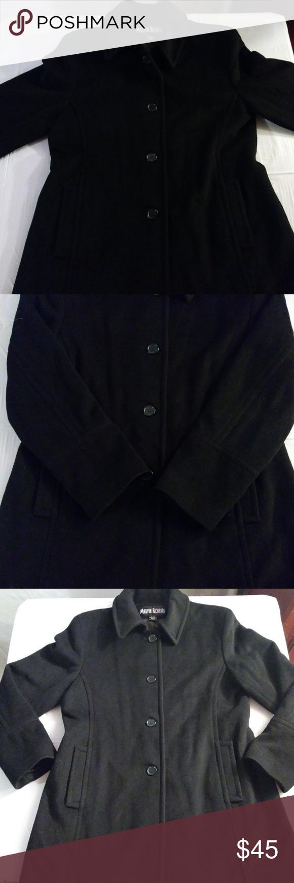 Wool cashmere flannel jacket  Marvin Richards Womenus xl Wool blend peacoat NWT  Pinterest