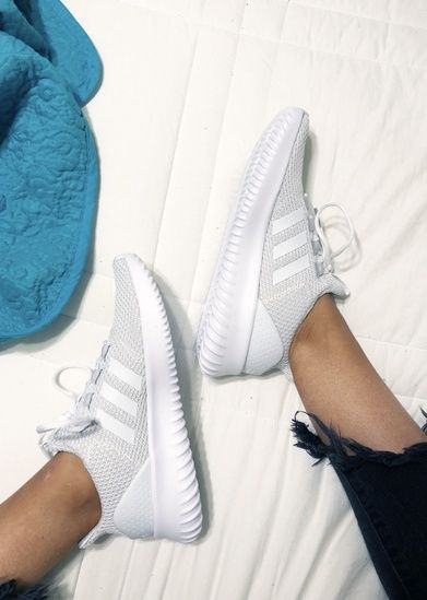 Shop the Look from maryannajefcoat on ShopStyle is part of Sneakers - Adidas Cloudfoam shoes  white Adidas sneakers shopthelook MyShopStyle adidas