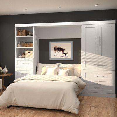 Brayden Studio Walley Full Double Murphy Bed Finish Deco Chambre A Coucher Mobilier De Salon