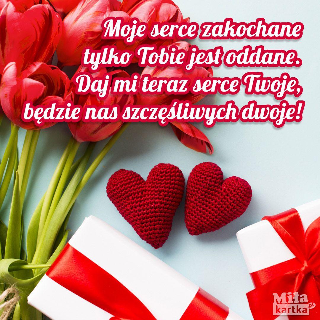 Moje Serce Zakochane Walentynki Polska Miłość Kochanie