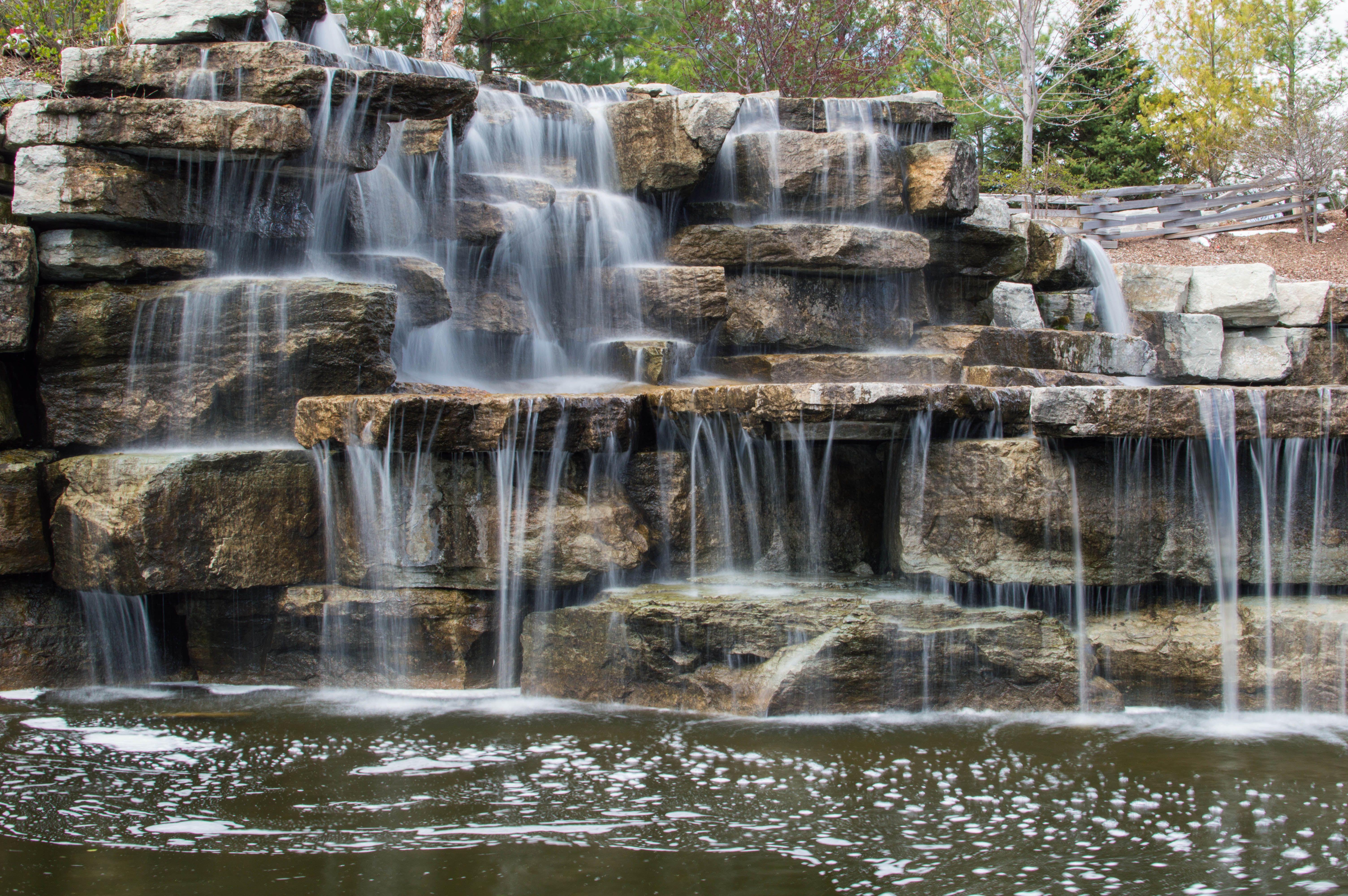 Bay Beach Sanctuary Waterfall | Waterfalls backyard, Diy ...
