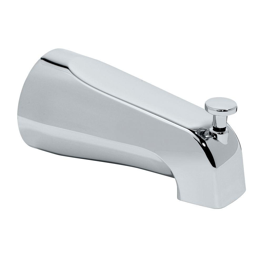 American Standard Diverter Slip On Tub Spout Polished Chrome Grey Polished Chrome Chrome American Standard