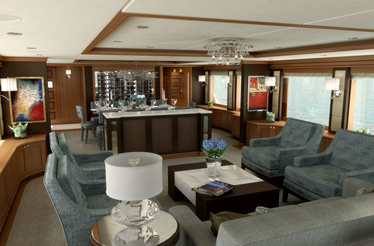 Private jet interior furnished like a vintage train aviation - 25 Amazing Private Jet Interiors Step Inside The World S Most Luxurious Private Jets