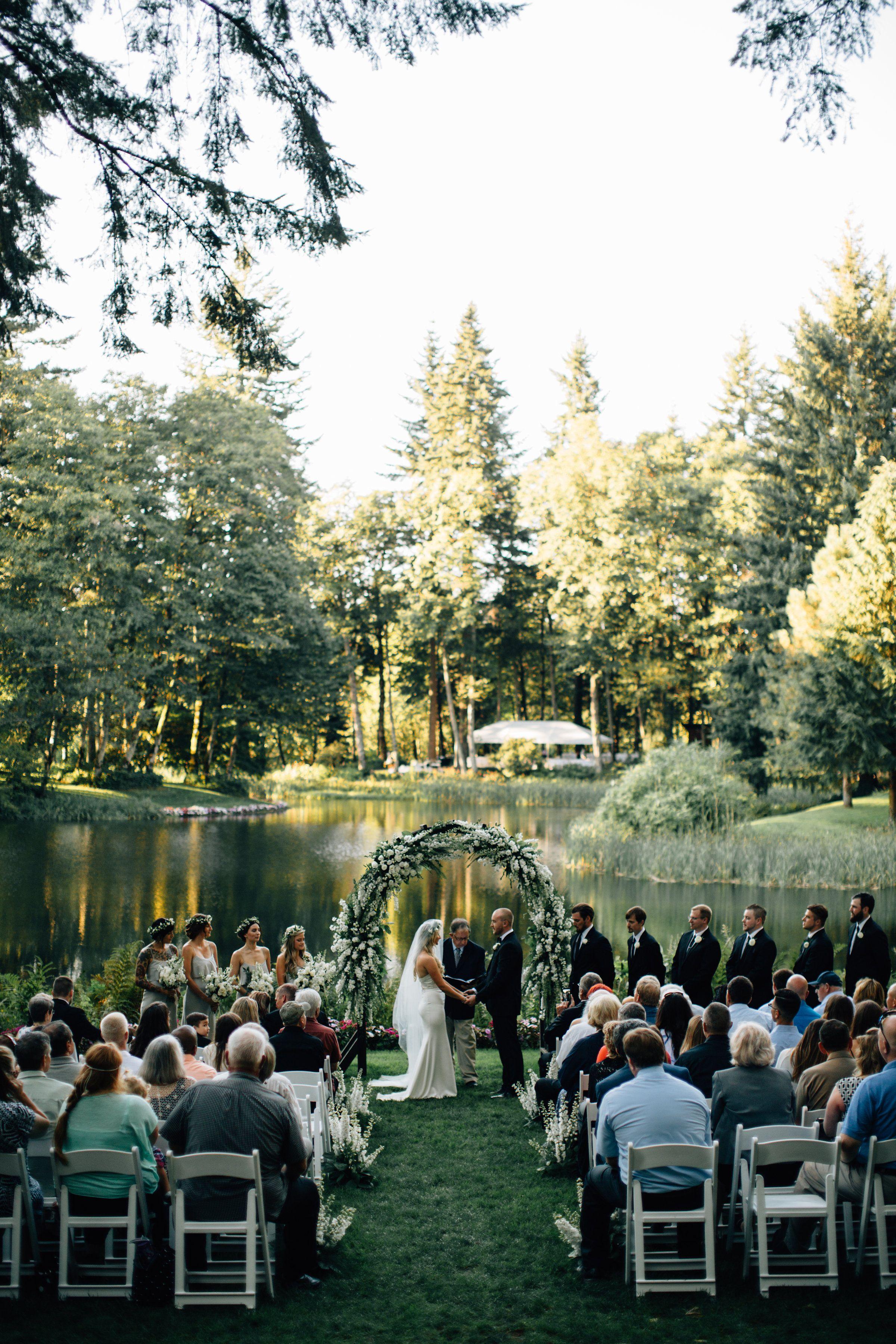 Ultra Romantic Forest Wedding Outdoor Wedding Venues Enchanted Forest Wedding Wedding Venues Oregon