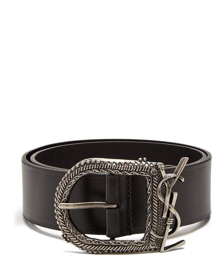 Embellished leather belt Saint Laurent zS3EW