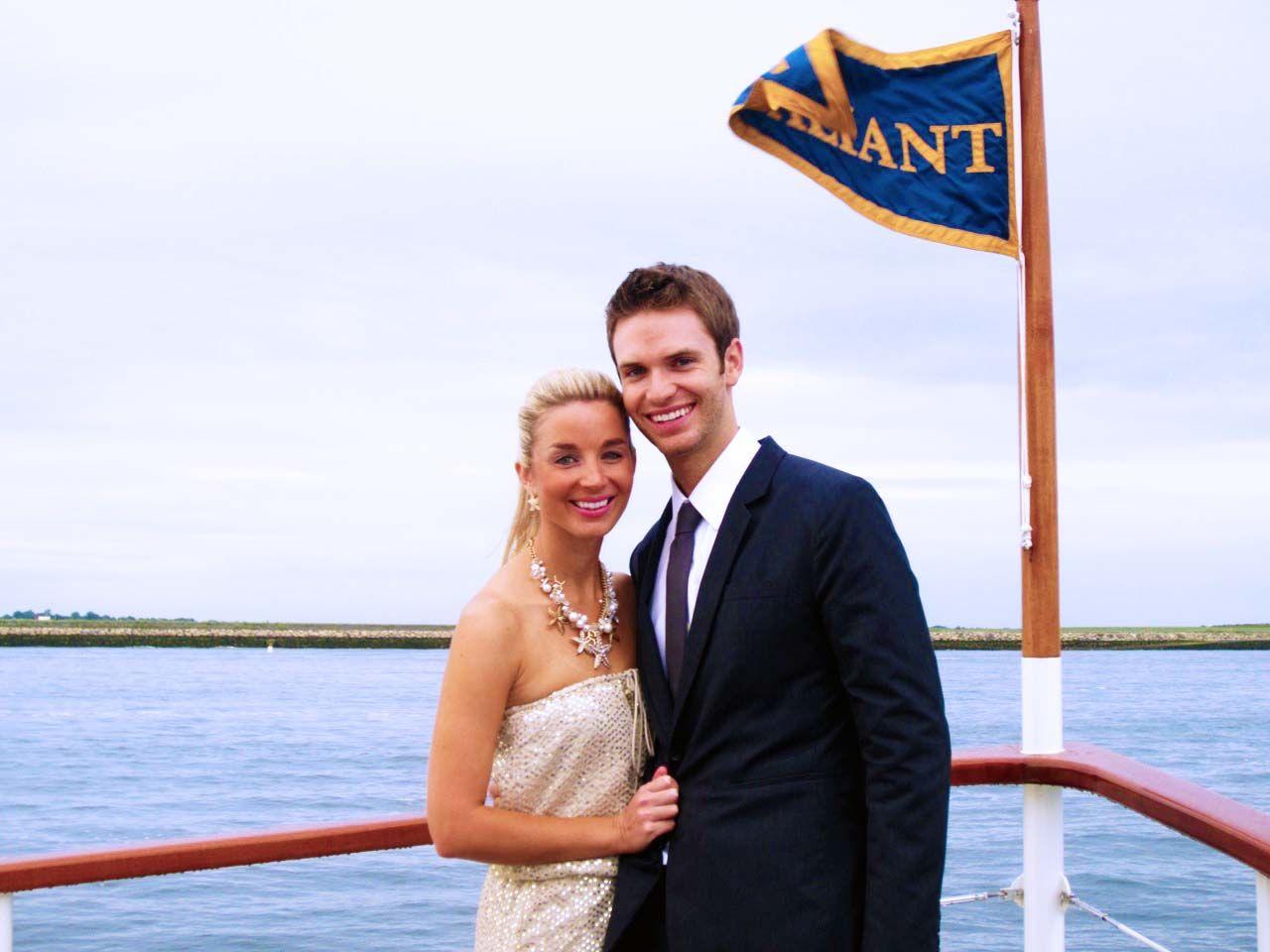 Engagement celebration aboard Valiant