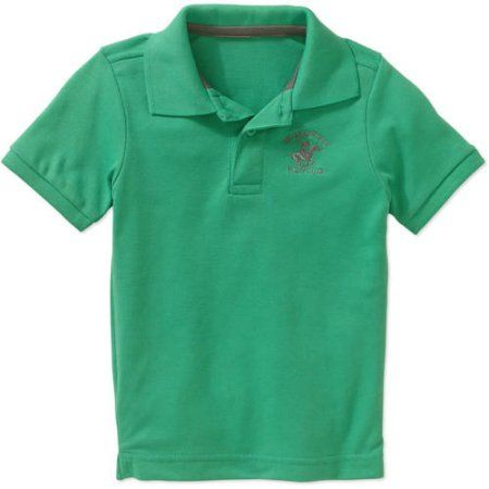 Beverly Hills Polo Club Toddler Boy Short Sleeve Pique Polo, Size: 25 Months, Green