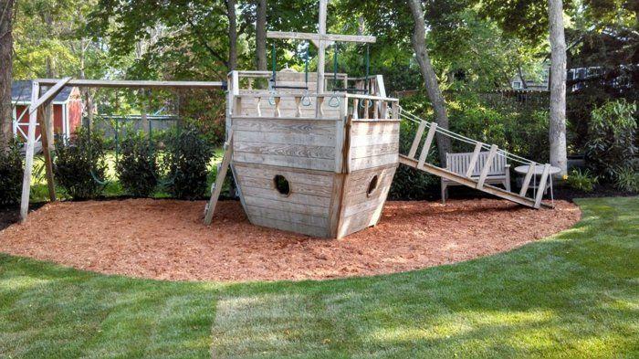 schiff für die spielecke im garten - ideen zum selbermachen ... - Gartenideen Zum Selber Machen