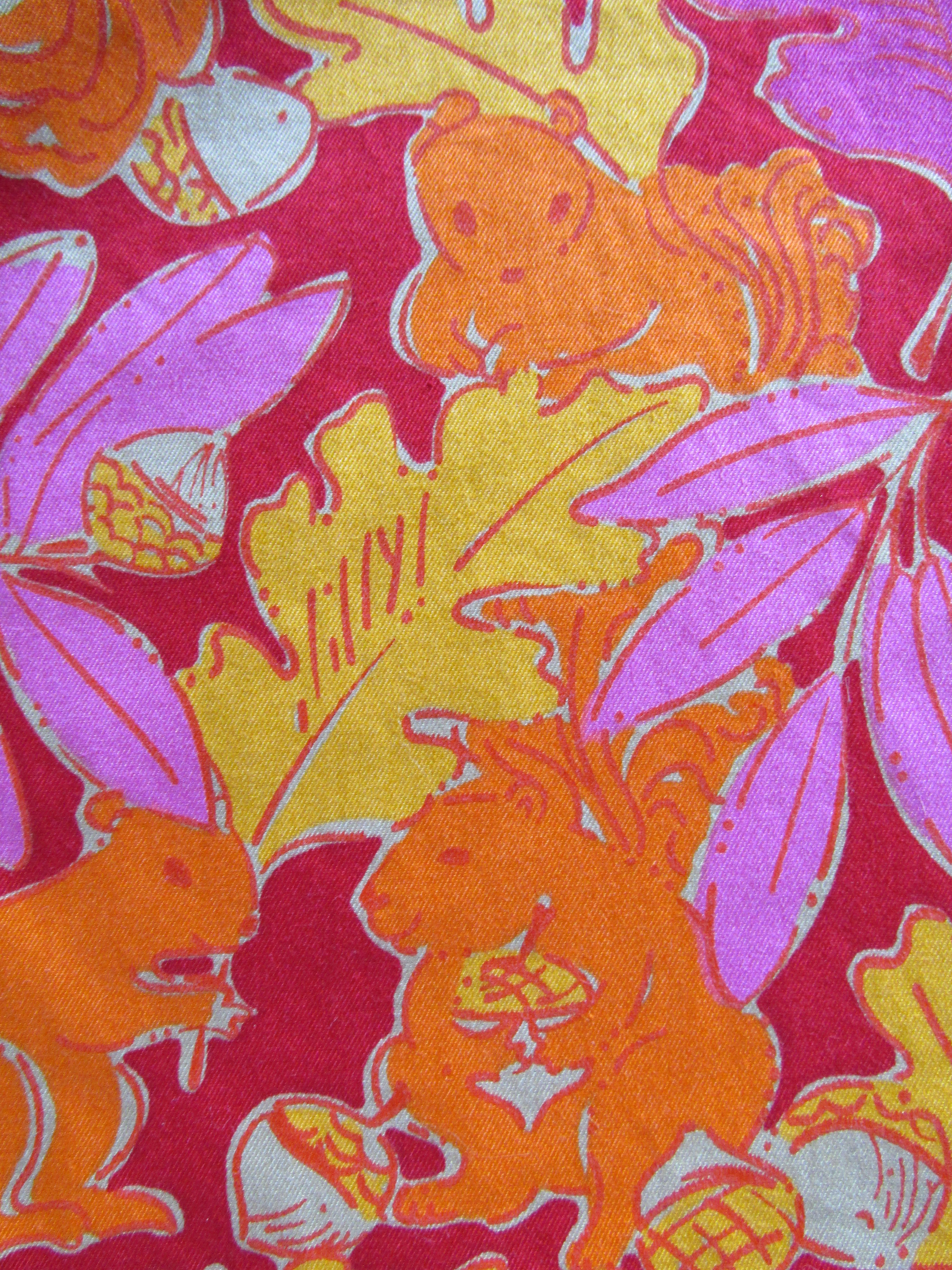 b5e4be2536e259 Lilly Pulitzer kids leaves and squirrels print from late 90s/early 2000s.  Happy Fall!!!