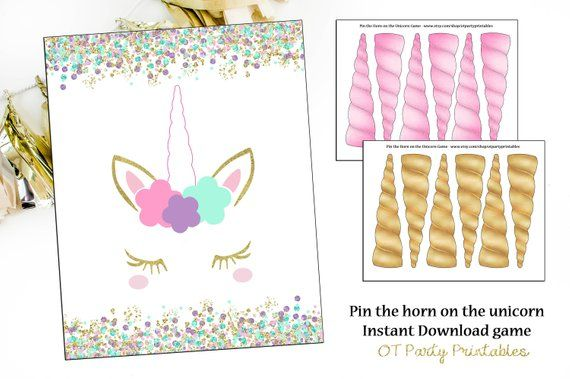 picture about Unicorn Horn Printable referred to as Prompt Down load - Pin the Horn upon the Unicorn Video game