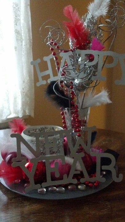 Centerpiece for NYE dinner using clearance Dollar Store ...