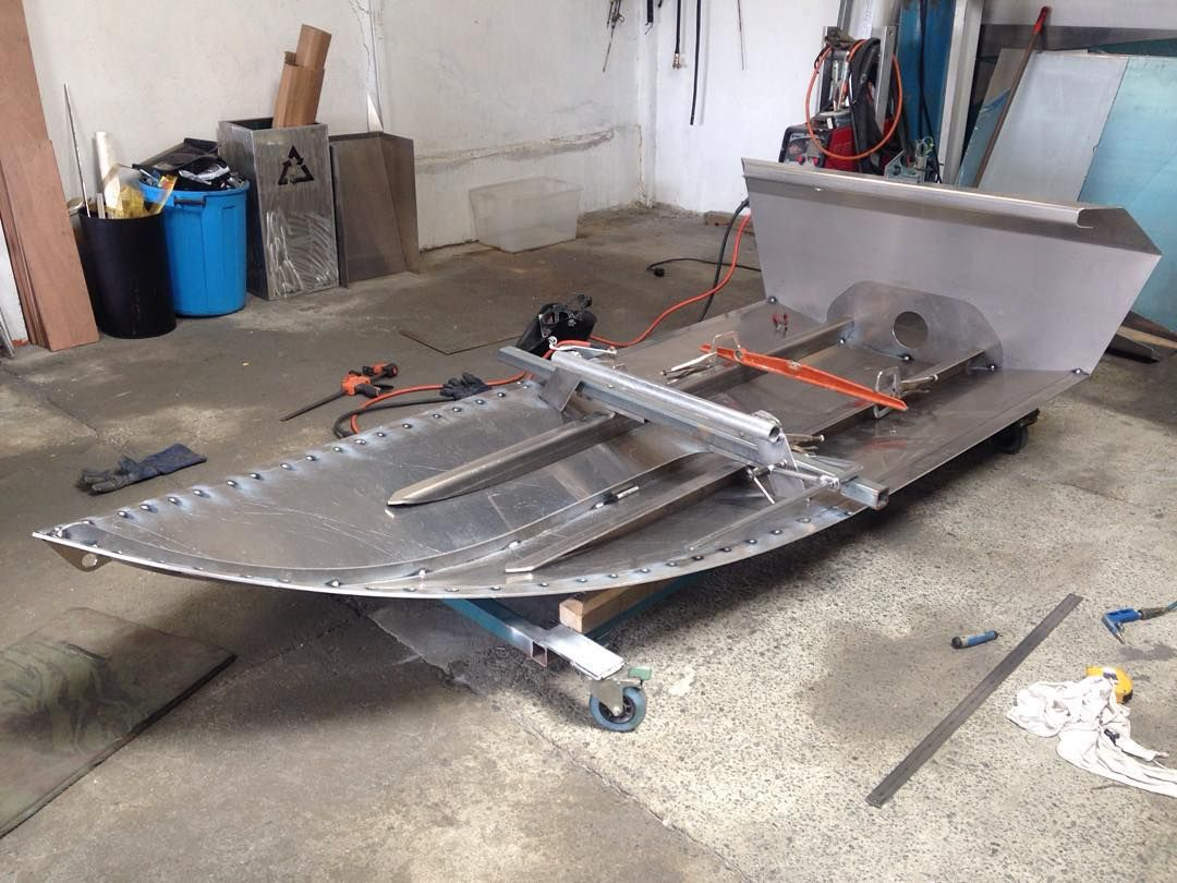 Home built jet dinghy s from new zealand boat design forums - Next Boat Coming Off The Floor This Morning