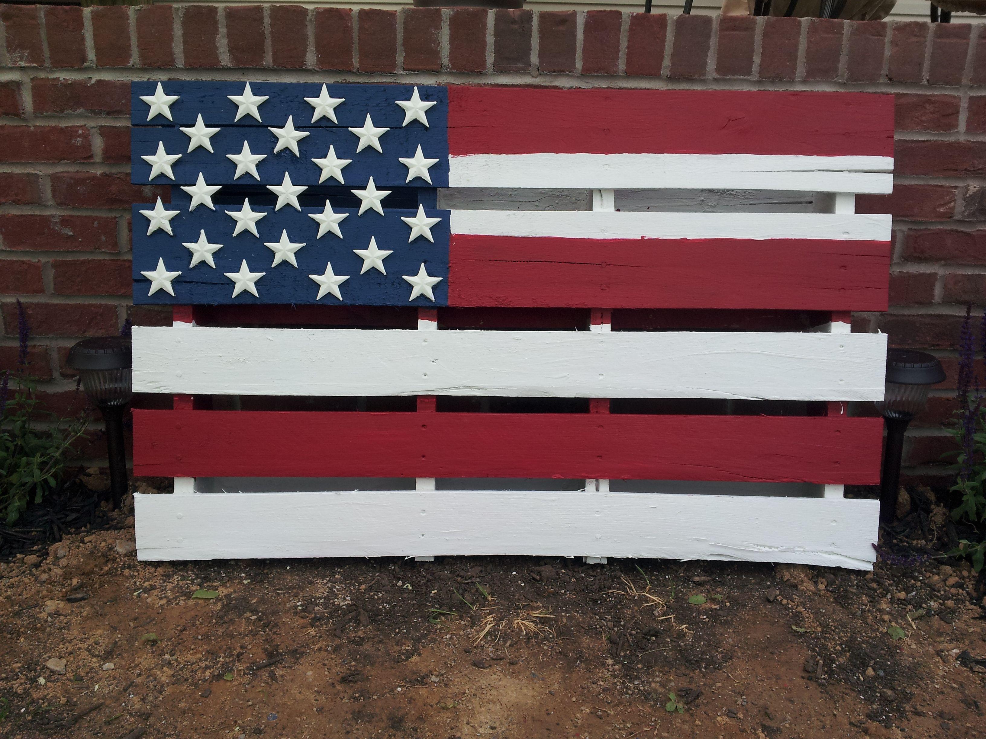 American flag pallet i made this 0 pinterest flags american flag and american flag pallet - American flag pallet art ...