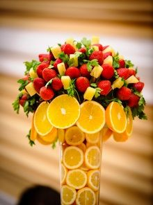 Lemons At Bottom Of Vase Can Be Part Greeting Guests