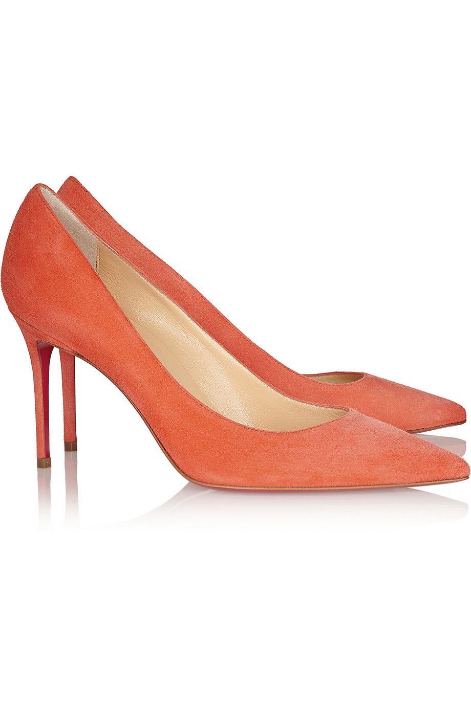 new styles d3019 6611b Christian Louboutin - Décolleté 85 suede pumps | The Shoe ...