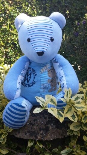 My son\'s very own memory bear | sewing ideas | Pinterest ...