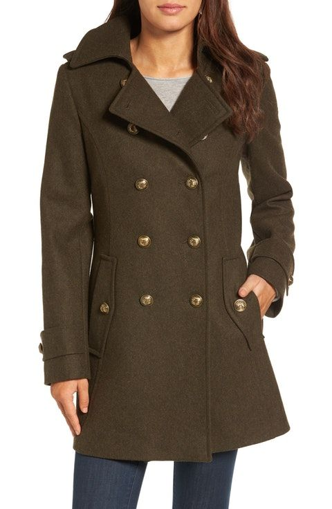 cc6d784bd London Fog Wool Blend Skirted Military Coat | Russian Packing List ...