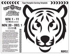 image result for tiger eyes pumpkin template pumpkins carving rh pinterest com