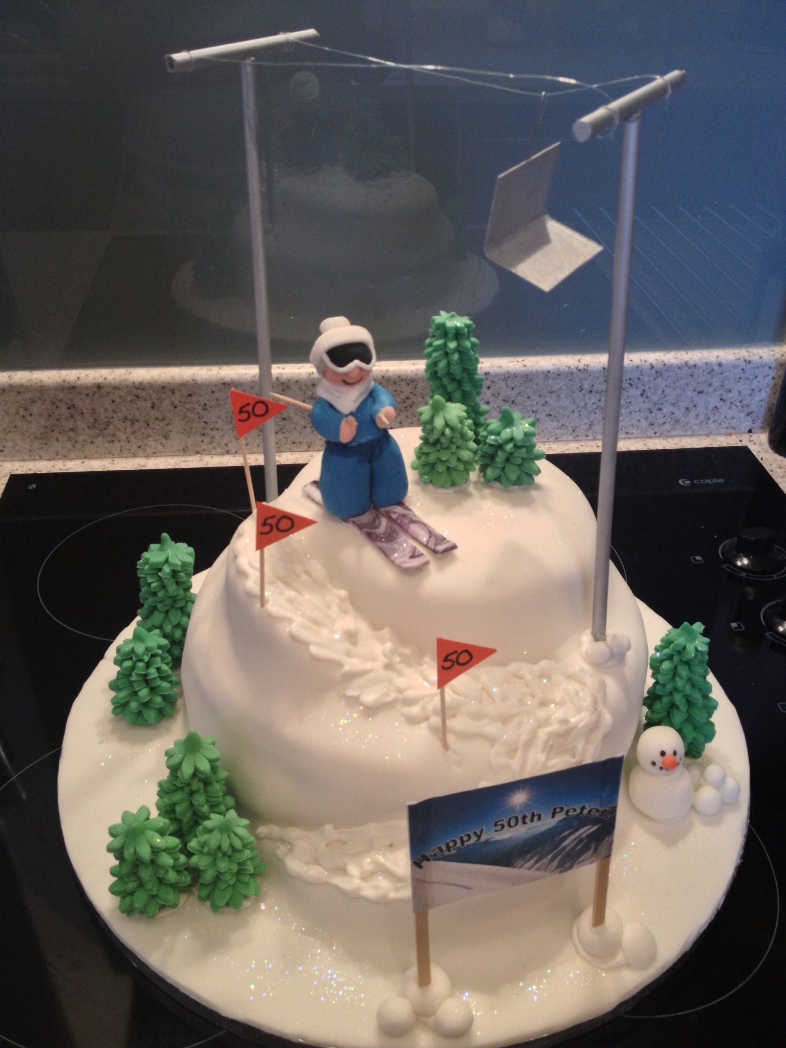 Skiing cake Ideas for Gavin Pinterest Cake Birthday cakes and
