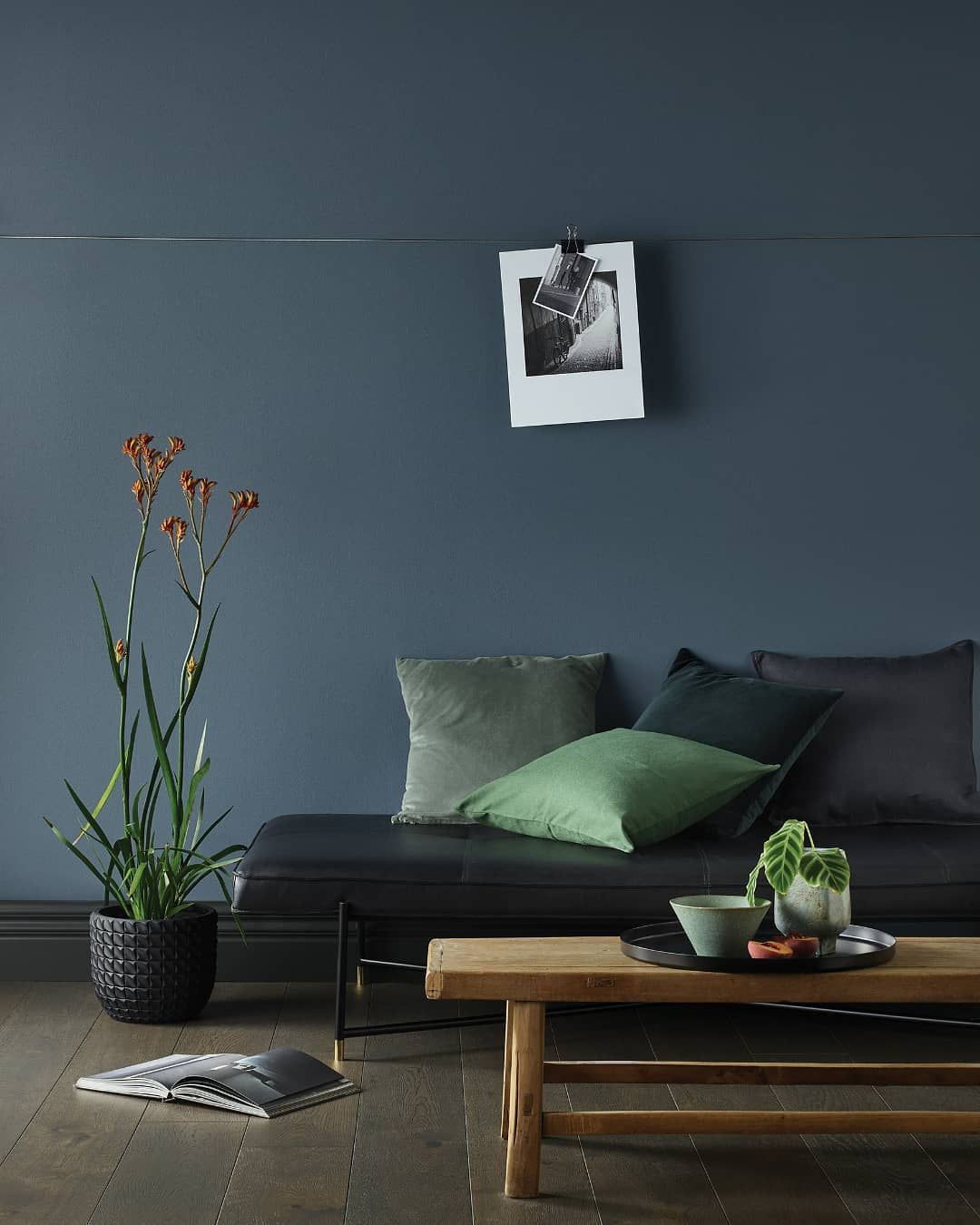 Porter S Paints On Instagram Gunmetal Grey In Our Eggshell Finish An Intriguing Greyed Off Slate B In 2020 Blue Living Room Color Blue Room Paint Slate Blue Walls #slate #blue #living #room