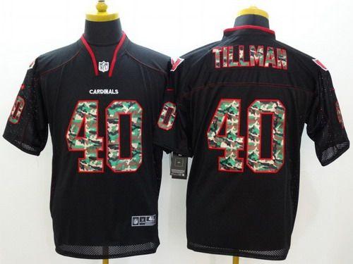Nice Nike Arizona Cardinals #40 Pat Tillman Black With Camo Elite Jersey  for cheap