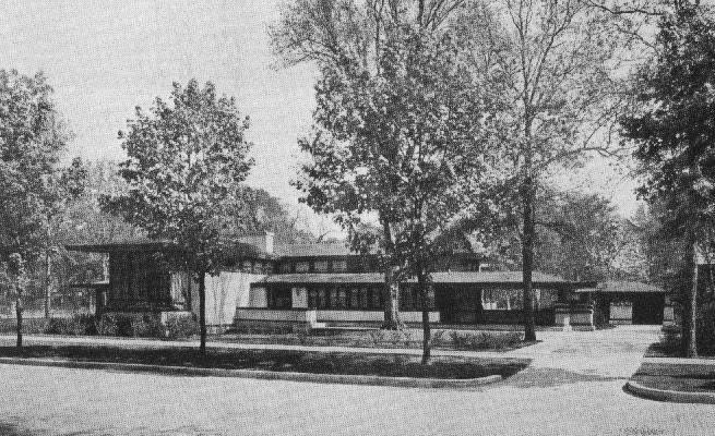 Oscar M And Katherine B Steffens Residence 1909 Chicago Illinois Prairie Style Frank Lloyd Wri Small House Architecture Frank Lloyd Wright Prairie Style