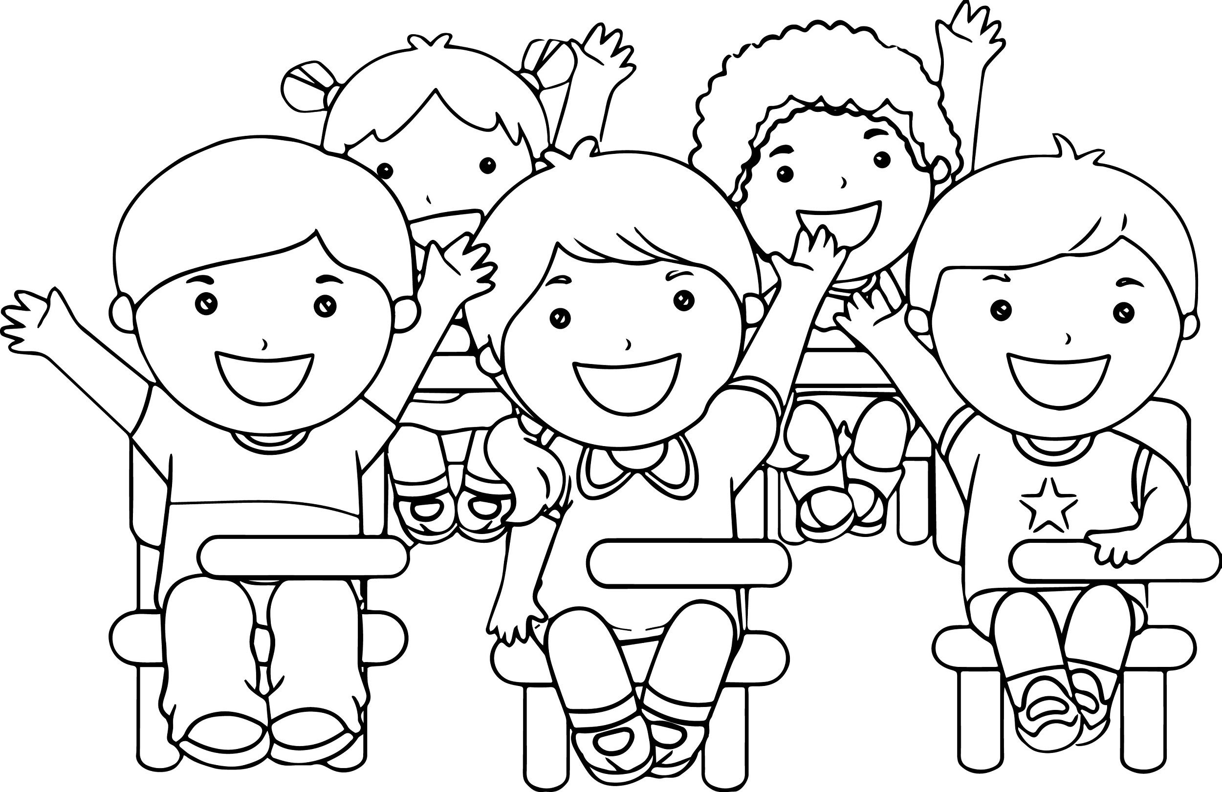 Classroom Coloring Pages For Kids / Free, printable ...