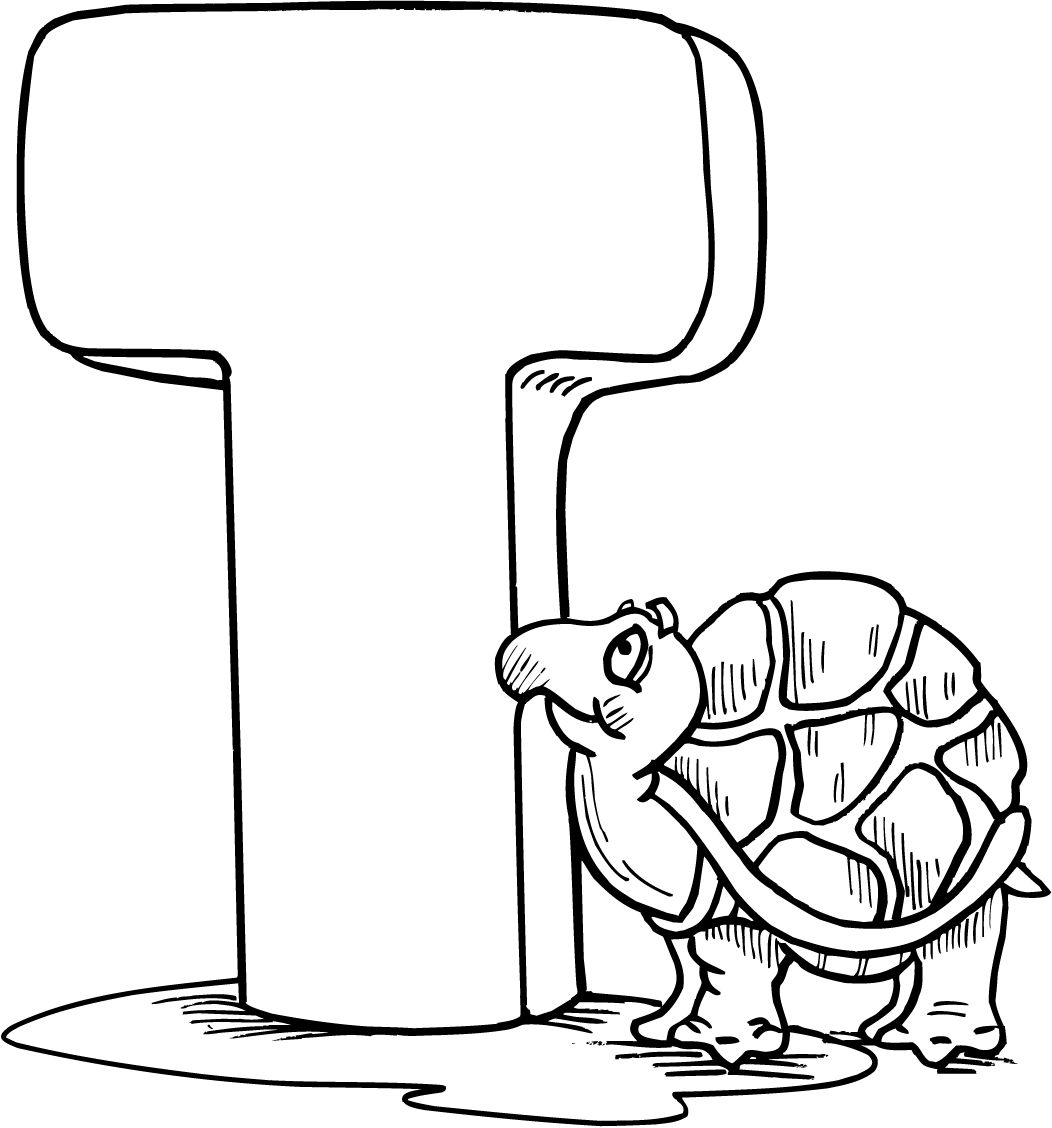 Alphabet Coloring Pages for Preschool Detail letter t