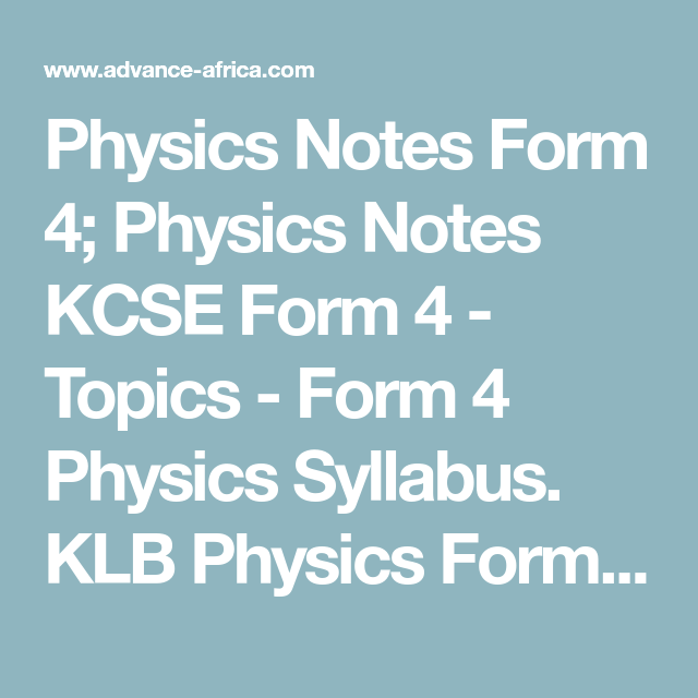 Free Kcse Revision Notes Pdf