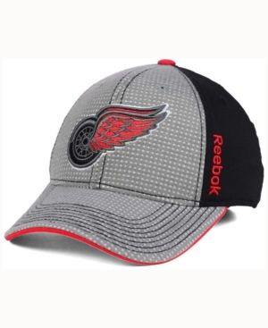 7994a80f Reebok Detroit Red Wings Travel and Training Flex Cap - Gray/Black S ...