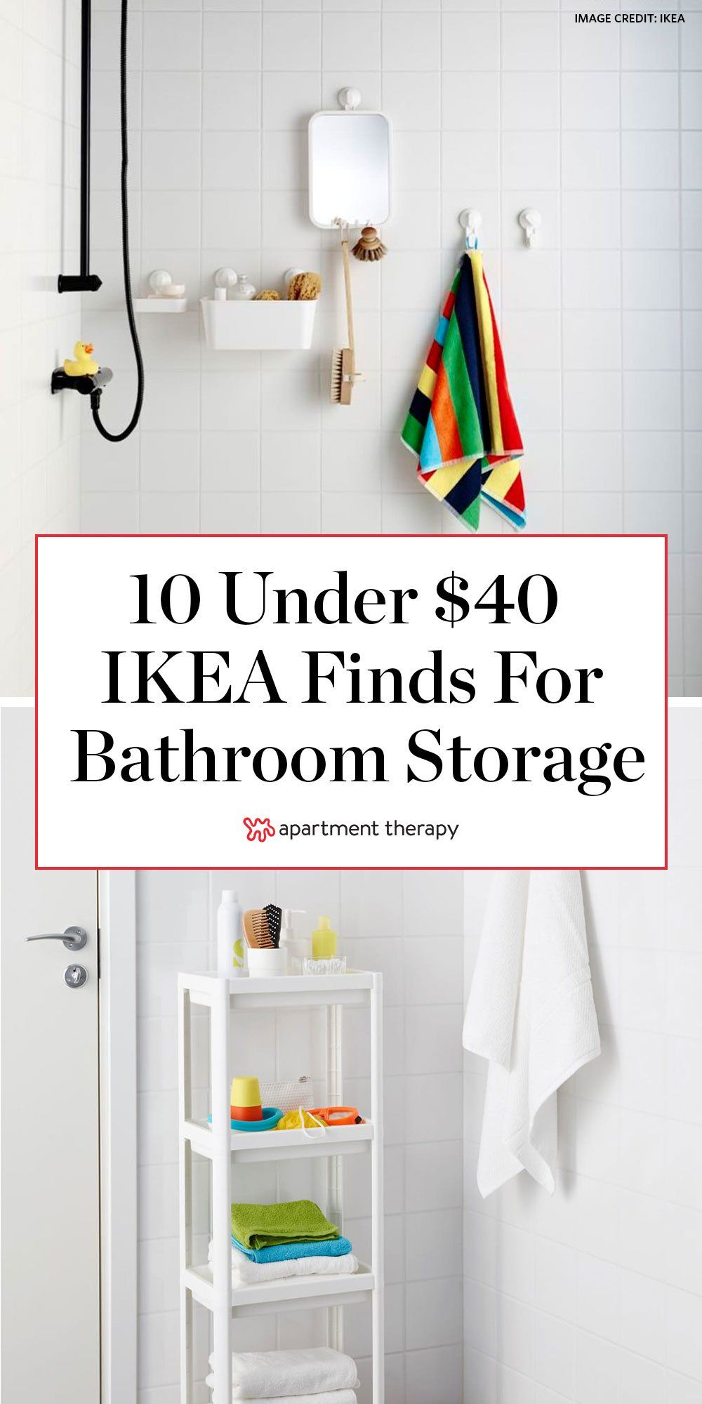 Ten Under 40 Ikea Finds That Ll Double The Storage In Your Bathroom In 2020 Ikea Finds Ikea Bathroom Storage Ikea Bathroom