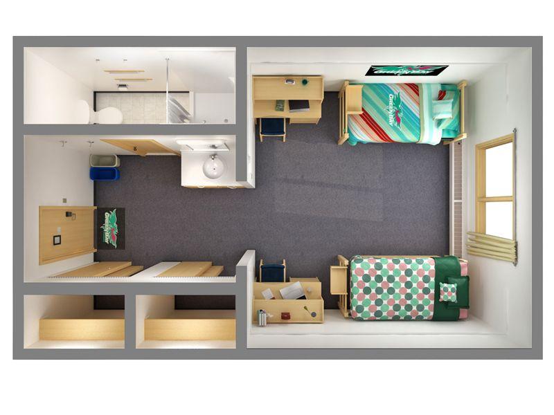 Hostel Floor 3d Plans ή Google Hotel Rooms