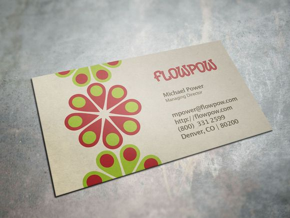 Colorful flower power business card colorful flowers business colorful flower power business card templates the flower power business card template is a colorful hippie inspired design great for any small bus by colourmoves