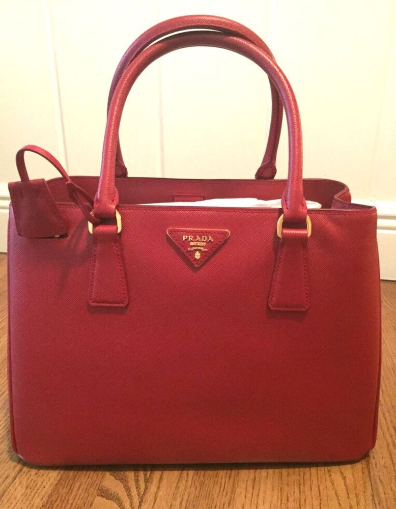 af47d3a207fe ... amazon prada saffiano red gardeners tote bag in clothing shoes  accessories ebay 205d8 6d9f7