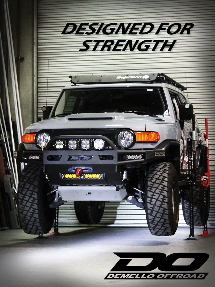 Toyota Fj Cruiser With Demello Off Road Bumper Fj