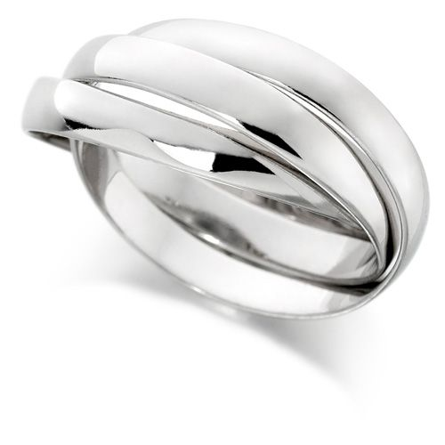 House of Williams 18ct White Gold Ladies Russian Wedding Ring with